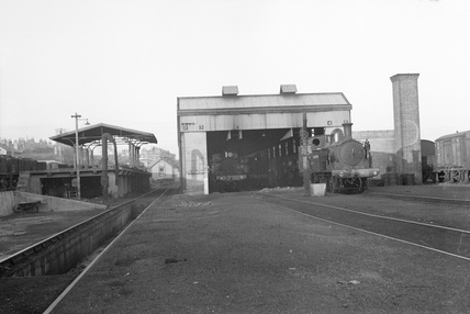Ryde Running Shed, Isle of Wight Railway. 1948. (LGRP_17828)