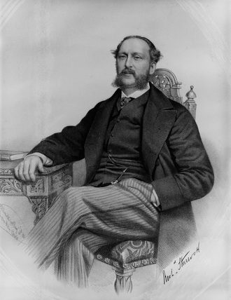 Portrait of Archibald Sturrock CME of the Great Northern Railway.
