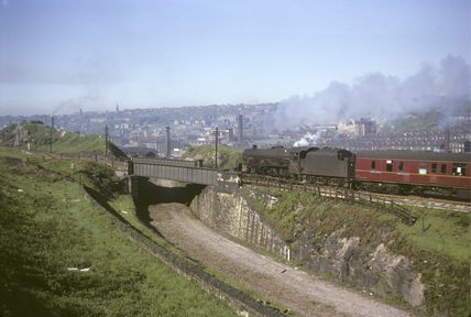 BR steam locomotive No. 45647, 30th May 1966. (T.Linfoot slide, 8/154A).