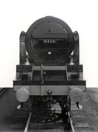 London Midland Scotland (LMS). Locomotive no. 6116 'The Irish Guardsman' Royal Scot class 6P 4-6-0, 27th March 1934. DY_18899.