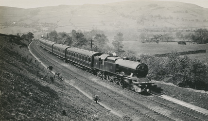 LMS 4-6-4T No.11111 with a Buxton Train near Coombes Chapel, 23rd May 1929. (S.T. Cowan, Ja_71,Album 5 ).