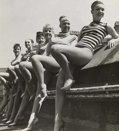 London Palladium dancers, by Ron Burton, 1960.