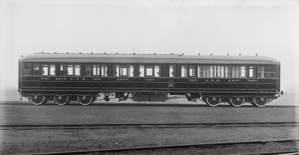 Great Northern Railway composite corridor coach, 1907.