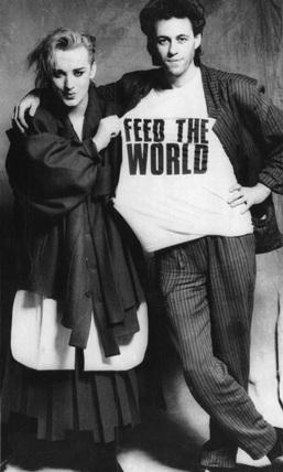 Bob Geldof and Boy George