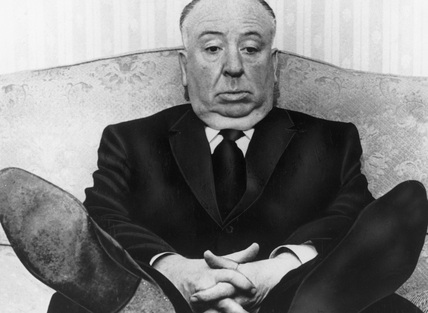 Alfred Hitchcock, English film director, in Australia, 9 May 1960.