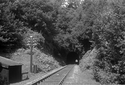 Castle Hill Tunnel, east portal c.1950.