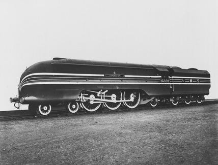 LMS locomotive 'The Coronation'.
