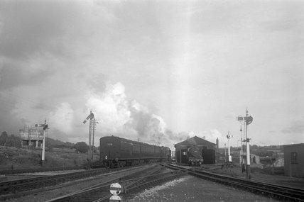 Barnstaple, loco shed c.1950