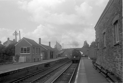 Swimbridge, up goods entering c1950