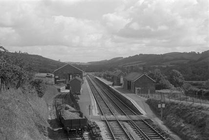Swimbridge, looking east. 30 August 1950.