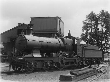 GWR locomotive no.3335 at Barnstaple.