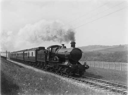 GWR locomotive no. 3453 'Seagull' at Landkey.