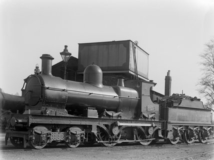 Locomotive no. 3529 at Barnstaple loco shed, with 2000 gallon tender c.1926.