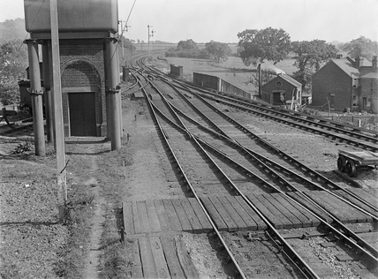 Thorpe-le-Soken, Essex. View at east end of station.