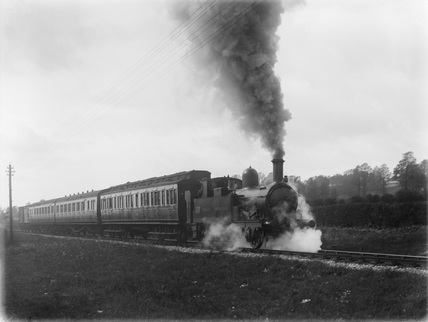 55xx on up freight train at Landkey c.1928.
