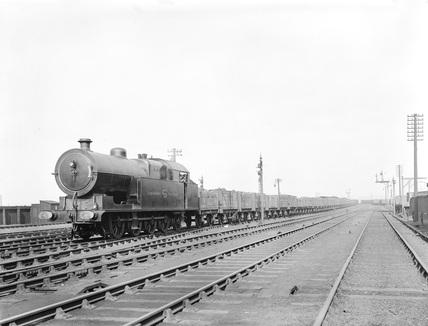 Coal wagons at Aintree yard, near Liverpool, Merseyside, 26 April 1911.