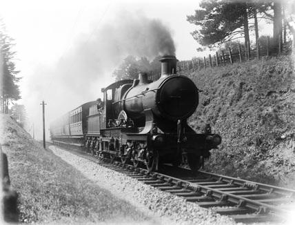 Great Western Railway 4-4-0 Bulldog class locomotive, possibly no. 3371.