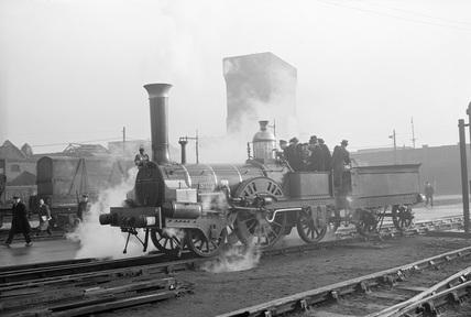 Buddicom 2-2-2 locomotive no. 3 of the former Western Railway of France