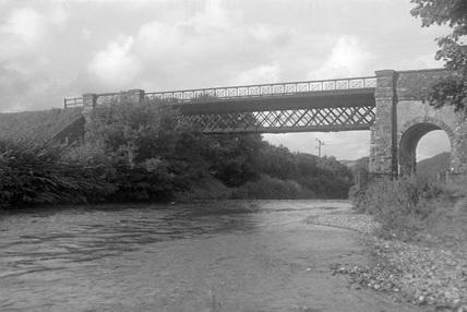 Exe Bridge from below, c1950