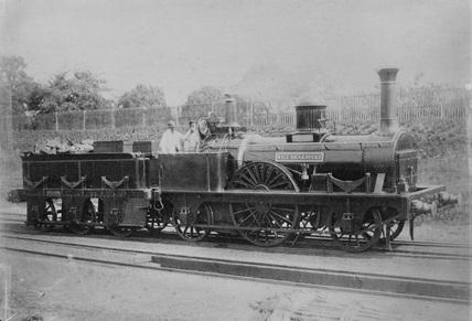2-2-2 Will Shakespear steam locomotive.
