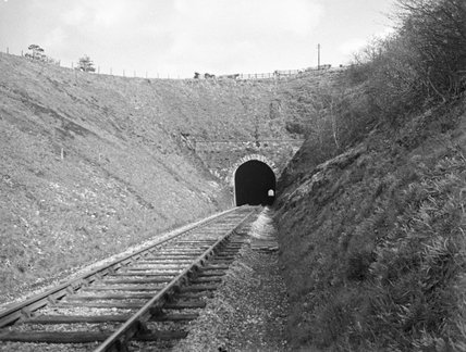 Bathealton Tunnel, west portal, March 1949