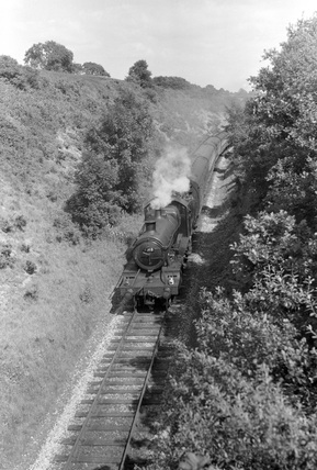Locomotive no. 6318, North Aller, 3 July 1953