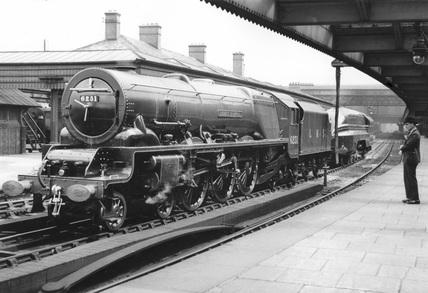 LMS locomotive 'Duchess of Rutland' at Shrewsbury