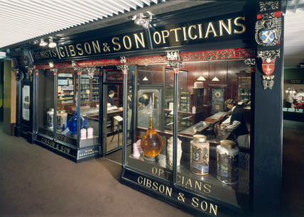 Shop front of Mr Gibson's Pharmacy, 1905.