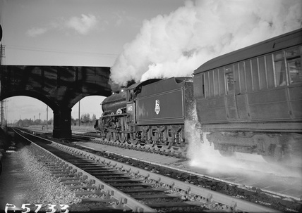 Locomotive no. 61652 on Langley Troughs 2 November, 1951.