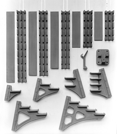 Lancashire & Yorkshire Railway signal cabin lever frame locking box brackets