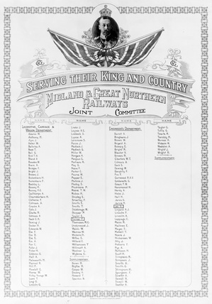 Midland & Great Northern Joint Railway Roll of Honour (Derby, DY_6883)