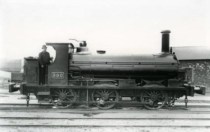 GWR class 850 locomotive no. 990.
