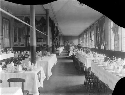 Bradford Midland Hotel Restaurant, c1890 (Derby, DY_4218)
