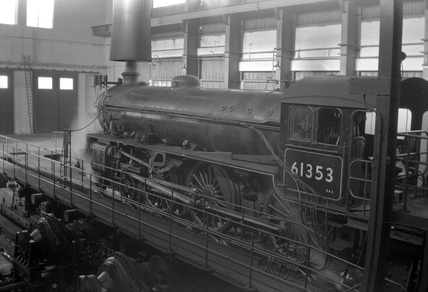 BR 4-6-0 Class B1 Thompson locomotive no. 61353 at Rugby Locomotive Testing Station.