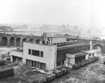 Rugby Locomotive Testing Station, general view of main buildings.