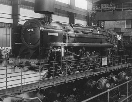 Visit of representatives of the technical press to the Rugby Locomotive Testing Station 18 May, 1951.