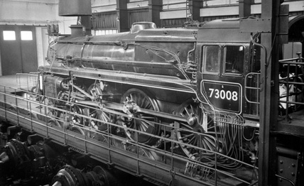 BR 4-6-0 Class 5 locomotive no. 73008 at Rugby Locomotive Testing Station.