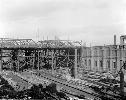Bradford New Station in construction, c1880s (Derby, DY_3120)