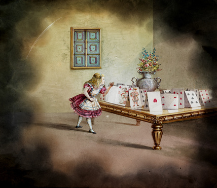 Alice in Wonderland, magic lantern.