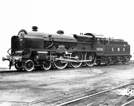London, Midland and Scottish Railway's locomotive, 1938.