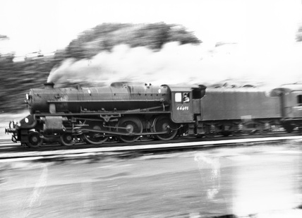 Class 5MT 4-6-0 steam locomotive No 444691 in British Railways service, September 1964.