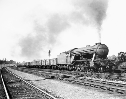 Large 2-8-2 steam locomotive, one of two engines introduced by Gresley in 1925.