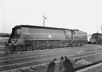 Merchant Navy Class 4-6-2 steam locomotive.