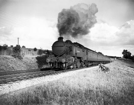 Metropolitan Class steam locomotive, 2-6-4T engine No. 116, near Dutchlands, c1935.