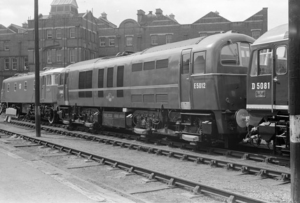 700V D/C electric locomotive no. E5012 at Marylebone Goods Yard.