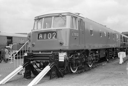 25 Kv A/C electric locomotive no. E3037 at Marylebone Goods Yard.