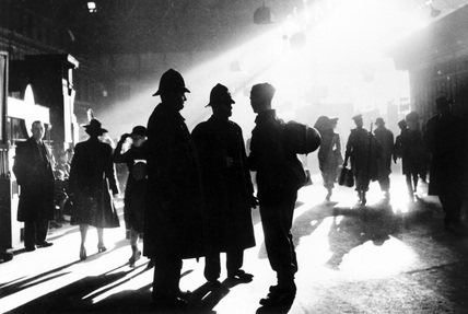 Waterloo station in wartime, London, c.1943.