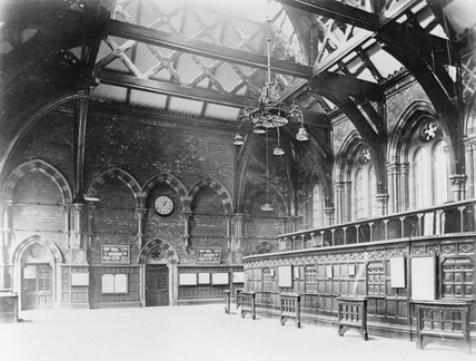 St Pancras Station Booking Hall, c 1900.
