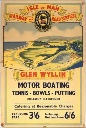 Glen Wyllin - The Glen By The Sea', Isle of Man Railway Company poster, c.1930s