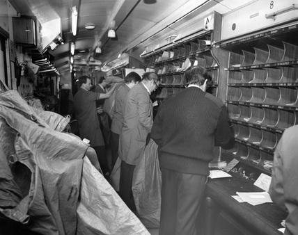 North Eastern' Travelling Post Office sorting van, British Rail, c.1987.